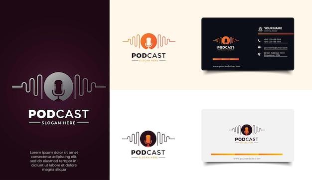 Zestaw Szablonów Logo Podcastu Premium Wektorów