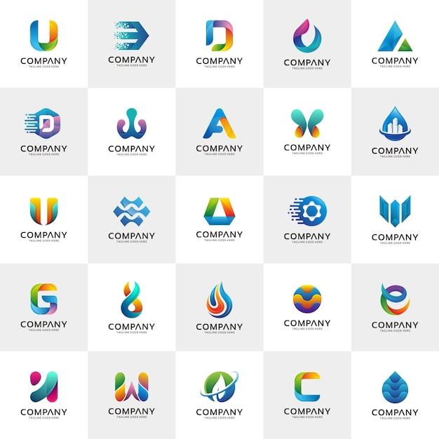 Zestaw szablonów projektu logo Premium Wektorów