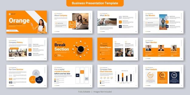 Zestaw Szablonów Slajdów Kreatywnych Prezentacji Biznesowych Premium Wektorów
