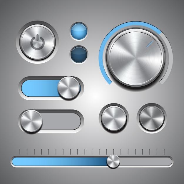 Zestaw Szczegółowych Elementów Interfejsu Użytkownika Premium Wektorów