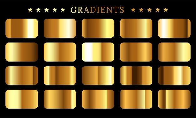 Zestaw Tekstur Złotej Folii Premium Wektorów
