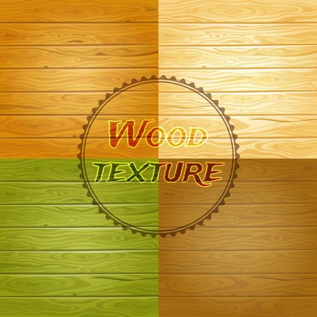 Zestaw Tekstura Tło Drewna Premium Wektorów