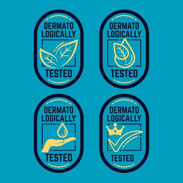 Zestaw Testowany Dermatologicznie Darmowych Wektorów