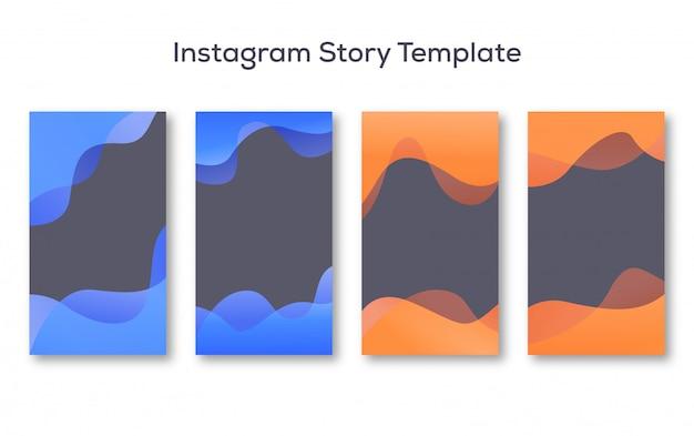Zestaw tła na instagram story Premium Wektorów