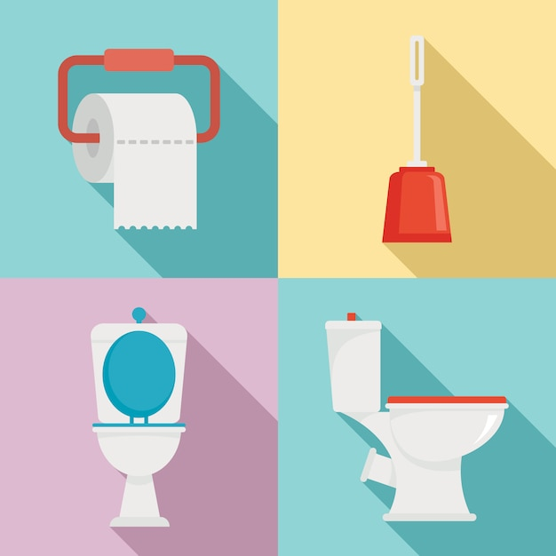 Zestaw Toaletowy, Płaski Premium Wektorów