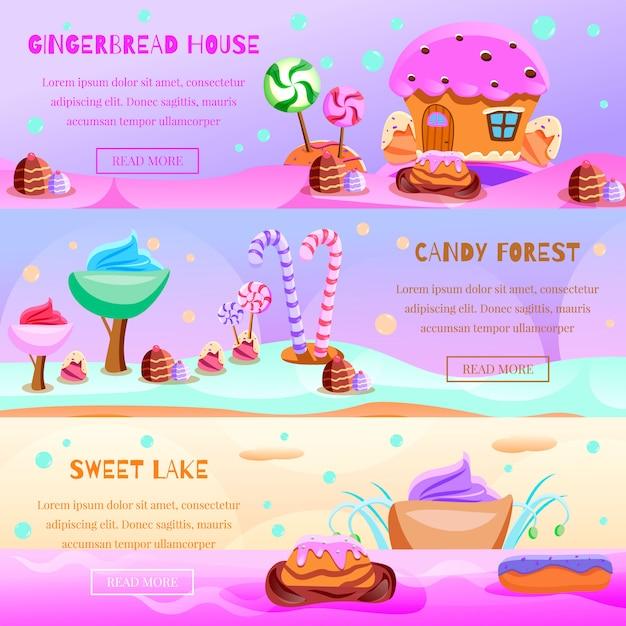Zestaw Transparent Bajkowy Candyland Darmowych Wektorów