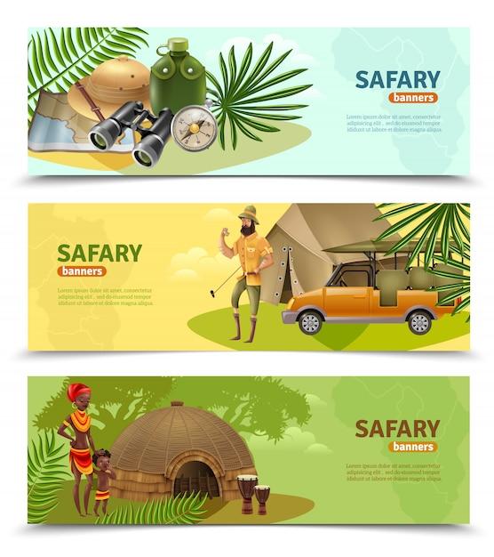Zestaw transparentów safari Darmowych Wektorów
