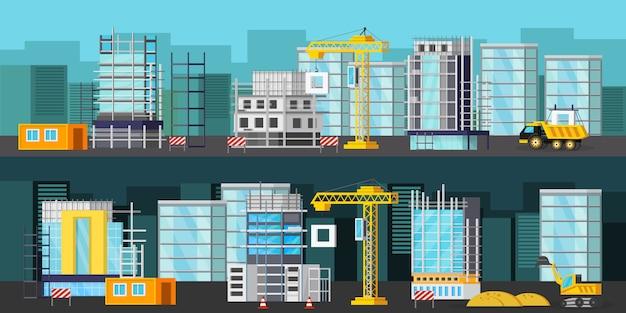 Zestaw Transparentu Placu Budowy Darmowych Wektorów