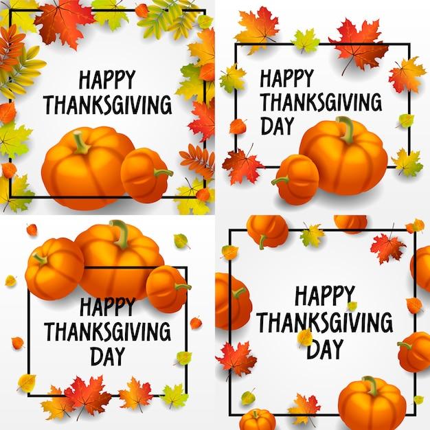 Zestaw Transparentu święto Dziękczynienia. Izometryczny Zestaw Dnia Dziękczynienia Premium Wektorów