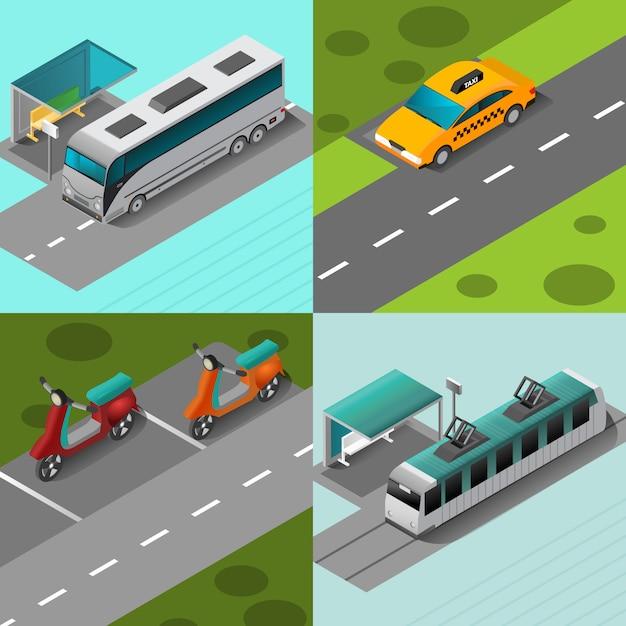 Zestaw transportu publicznego Darmowych Wektorów