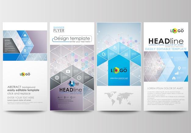 Zestaw ulotek, nowoczesne banery. szablony biznesowe. szablon projektu okładki Premium Wektorów