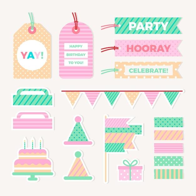 Zestaw Urodzinowy Notatnik Darmowych Wektorów