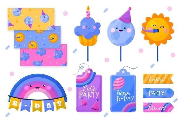 Zestaw Urodzinowy Notatnik Premium Wektorów