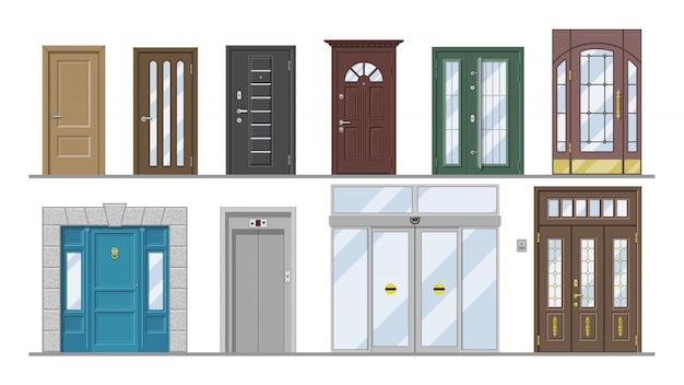 Zestaw wejściowy do drzwi wejściowych Premium Wektorów