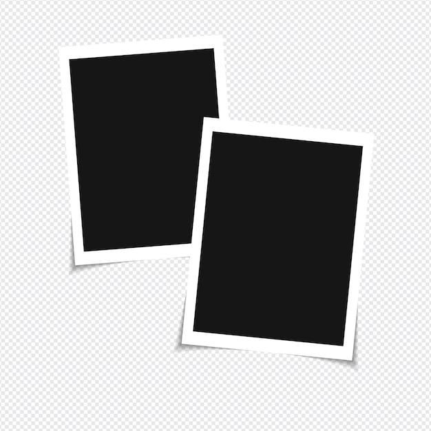 Zestaw Wektor Makieta Ramki Na Zdjęcia Na Taśmie Klejącej Premium Wektorów
