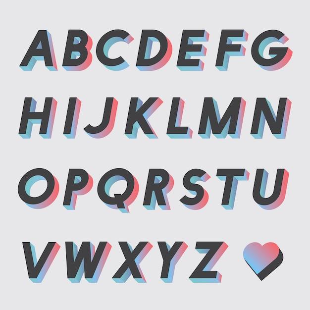 Zestaw wektorów alfabetu Darmowych Wektorów