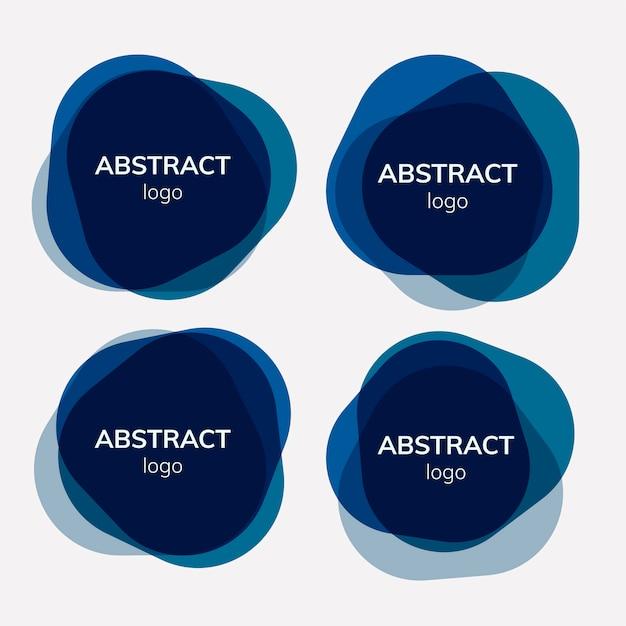 Zestaw wzorów abstrakcyjnych tła Darmowych Wektorów