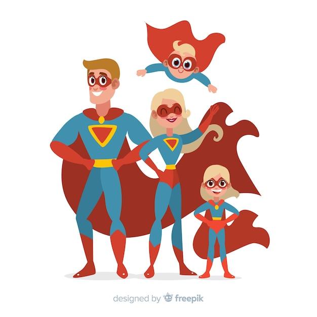 Zestaw zabawnych superbohaterów Darmowych Wektorów