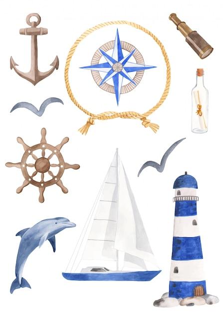 Zestaw żeglarski Premium Wektorów