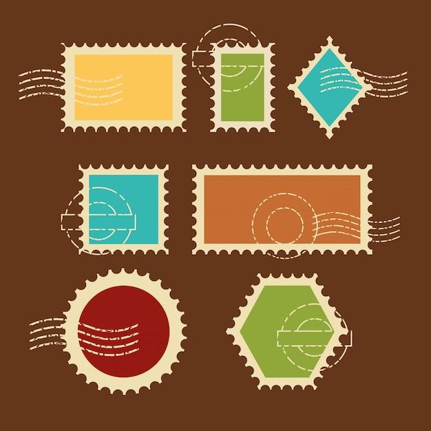 Zestaw znaczków najwyższej jakości Darmowych Wektorów