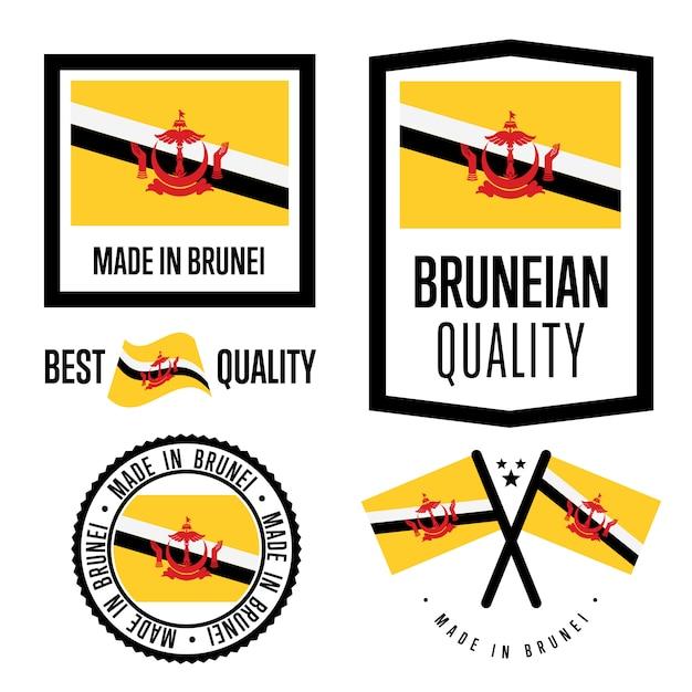 Zestaw Znaków Jakości Brunei Premium Wektorów