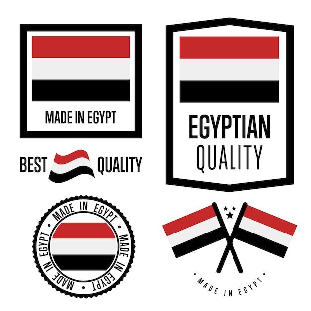 Zestaw Znaków Jakości Egiptu Premium Wektorów