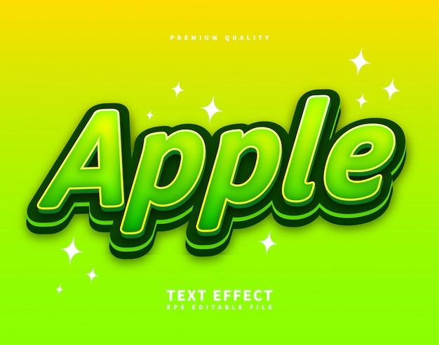 Zielona czcionka w stylu tekstu Premium Wektorów