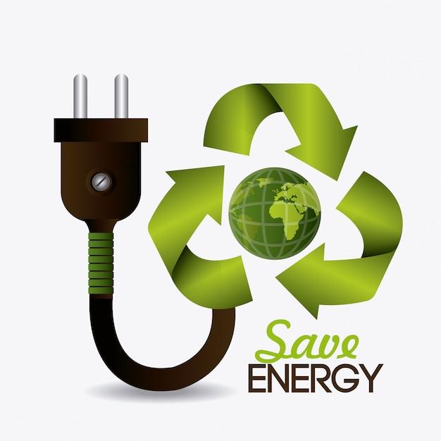 Zielona energia i ekologia Darmowych Wektorów