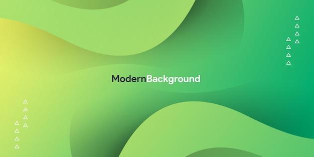 Zielona Fala Z Gradientowym Kolorowym Tłem Premium Wektorów