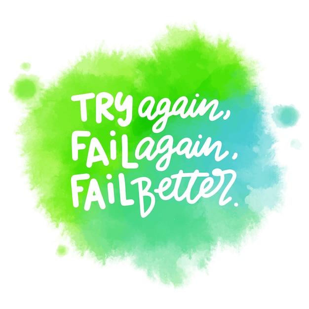 Zielona plama akwarela z pozytywnym napisem wiadomość Darmowych Wektorów