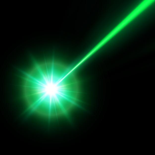 Zielona Wiązka Lasera, Ilustracja Premium Wektorów