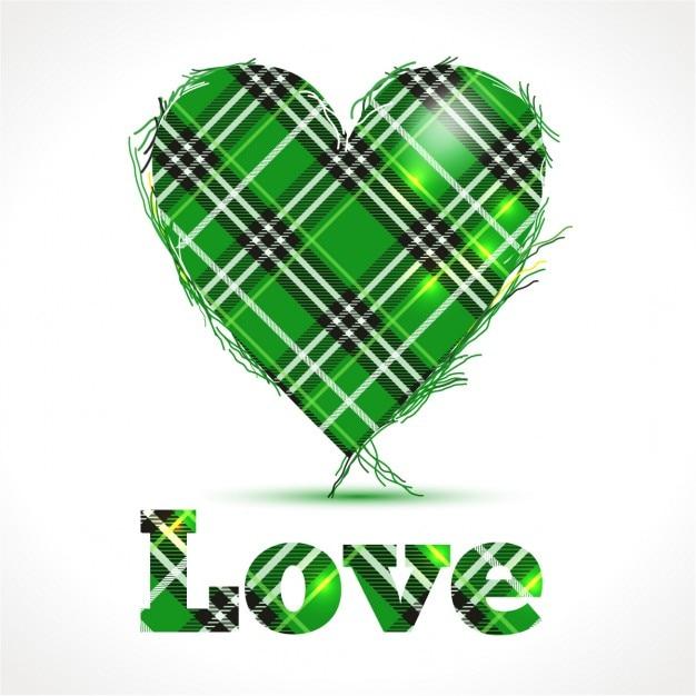 Zielone Serce Z Pozdrowienia Miłość Zarejestruj Pocztówka Na S Patricks Dni Ierland Tle Darmowych Wektorów