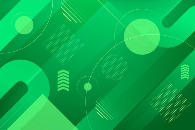 Zielone tło geometryczne Darmowych Wektorów