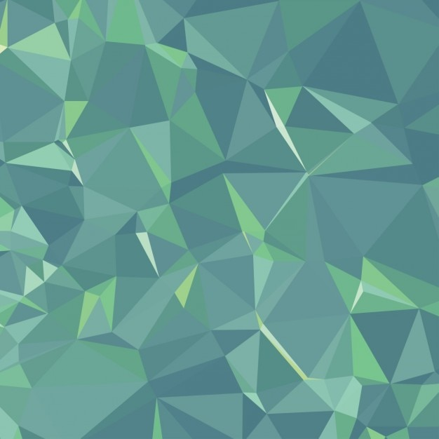 Zielone Tło Wielokąta Darmowych Wektorów