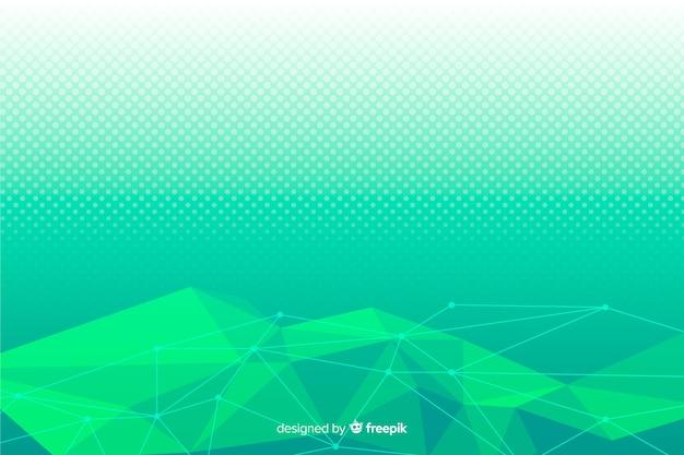 Zielony abstrakcyjne kształty geometryczne tło Darmowych Wektorów