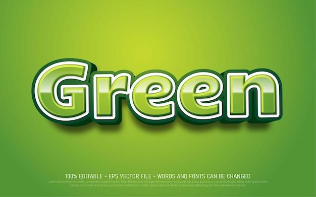 Zielony Edytowalny Efekt Tekstowy Premium Wektorów