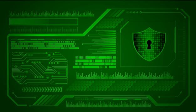 Zielony hud cyber obwodu technologii pojęcia przyszłościowy tło Premium Wektorów