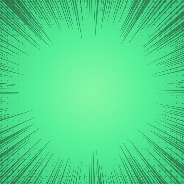 Zielony komiks zoom linie tła Darmowych Wektorów