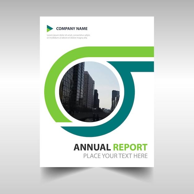 Zielony kreatywny raport roczny szablonu książki Darmowych Wektorów