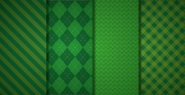Zielony wzór geometryczny Darmowych Wektorów
