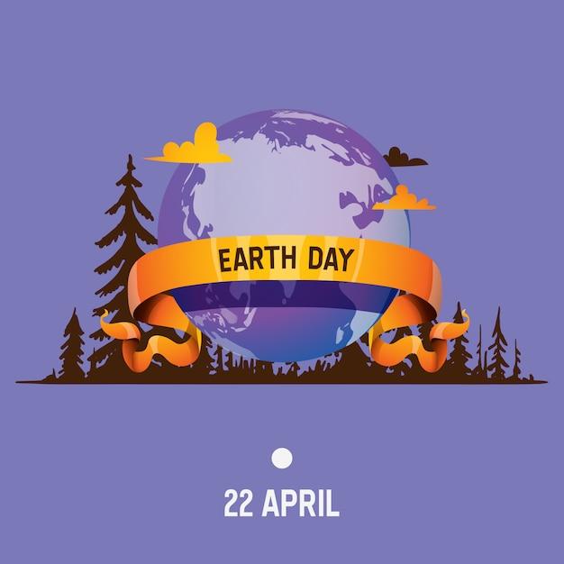 Ziemia planeta wektor globalny świat wszechświat dzień ziemi i ogólnoświatowa uniwersalna kula ziemska ilustracja Premium Wektorów