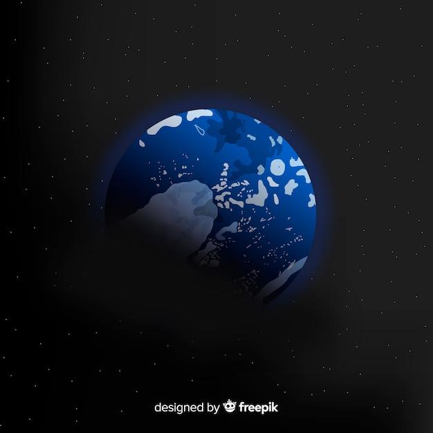Ziemia tło w przestrzeni Darmowych Wektorów