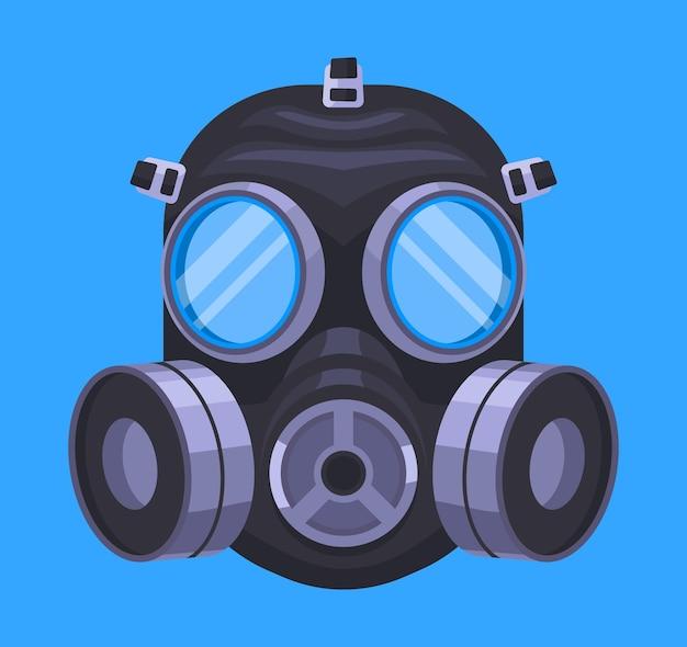 Zilustrowana Maska Gazowa Do Oddychania Premium Wektorów