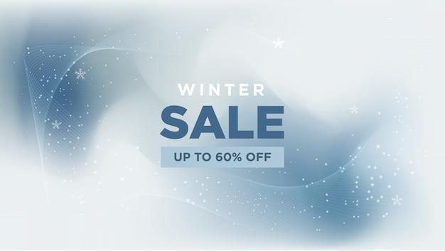 Zimowa Wyprzedaż Z Streszczenie Transparent Premium Wektorów