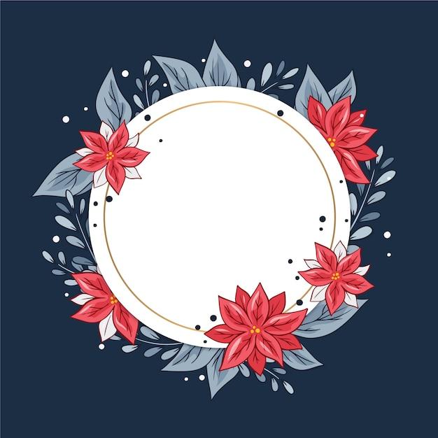Zimowe kwiaty z pusty transparent Darmowych Wektorów