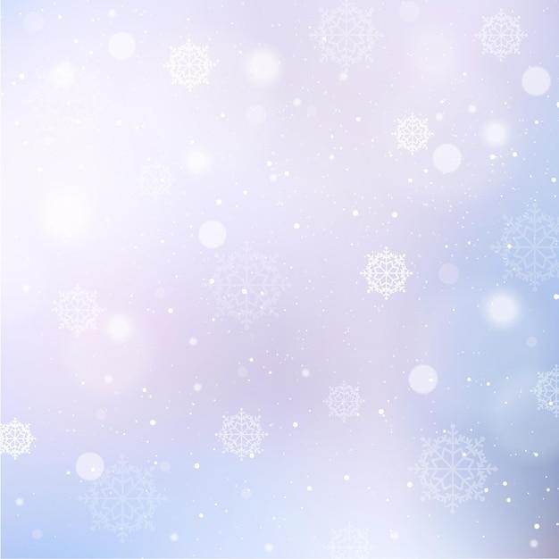 Zimowe Tło Z Płatki śniegu Darmowych Wektorów