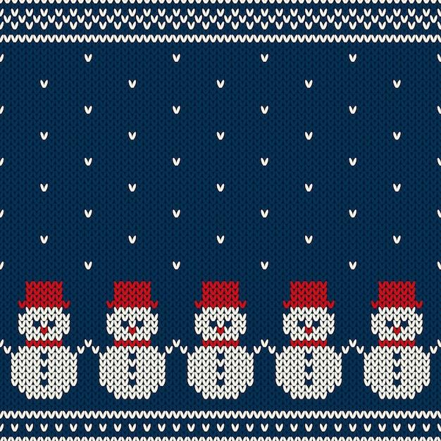 Zimowe Wakacje Wzór Z Dzianiny. Sweter Nordic Premium Wektorów