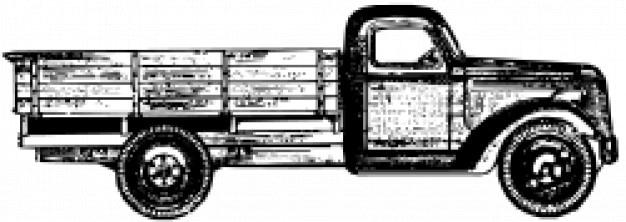 Zis 15 Ciężarówka Darmowych Wektorów