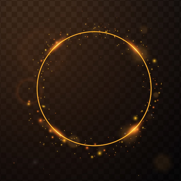 Złota ramka z efektami światła Premium Wektorów