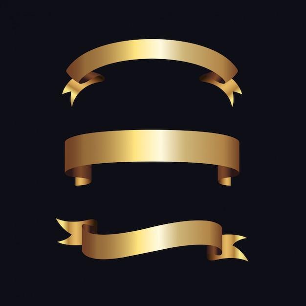 Złote etykiety ze złotą ramą nad beżem Premium Wektorów